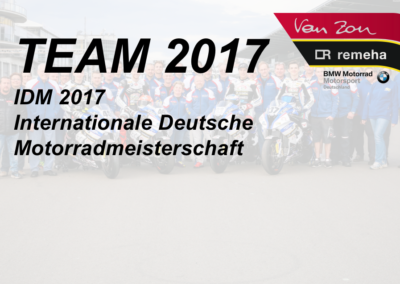 Team 2017 IDM Superbike 1000 Van Zon-Remeha-BMW Superbike Team